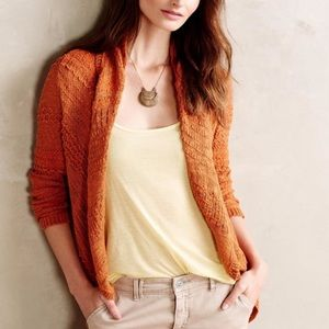 Anthro Knitted & Knotted Switch Stitch Cardigan